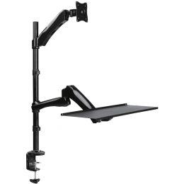 LogiLink Sitz-Steh Arbeitsplatz, für 1 Monitor, schwarz