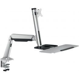 LogiLink Sitz-Steh Arbeitsplatz, für 1 Monitor, silber