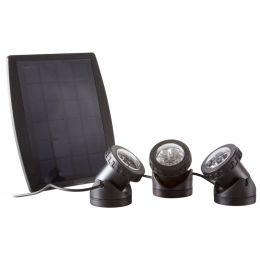 LogiLink Solar LED-Strahler, mit 3 Strahlern, schwarz