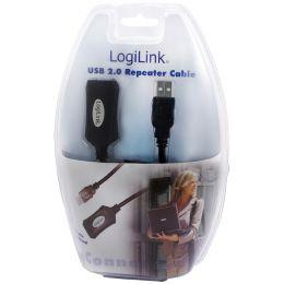 LogiLink USB 2.0 Aktives Verlängerungskabel, 5,0 m