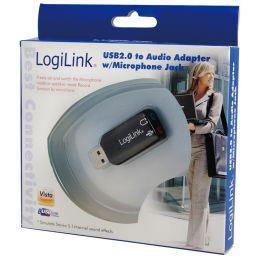 LogiLink USB 2.0 Audioadapter, 5.1 Soundeffekt
