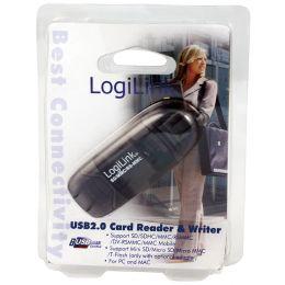 LogiLink USB 2.0 Mini Card Reader für SD/MMC, anthrazit