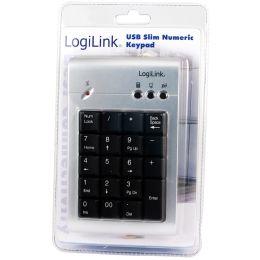 LogiLink USB 2.0 Nummernblock, mit Anschlusskabel, 19 Tasten