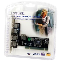 LogiLink USB 2.0 PCI Karte, 4 + 1 Port, VIA Chipsatz