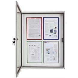 magnetoplan Schaukasten CC, 4 x DIN A4, Außen-/Innenbereich