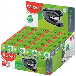 Maped Heftgerät Mini Standard Greenlogic, 20er Display