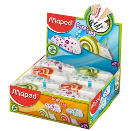 Maped Kunststoff-Radierer Ergo Fun, 24er Display