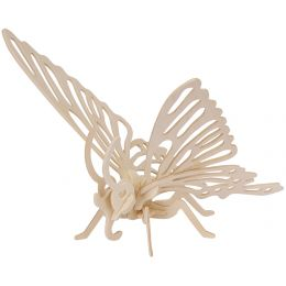 mara by Marabu 3D Puzzle Schmetterling, 16 Holzteile