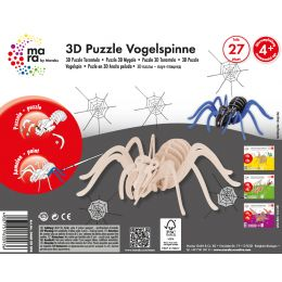 mara by Marabu 3D Puzzle Vogelspinne, 27 Holzteile