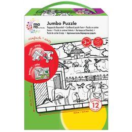 mara by Marabu Jumbo Ausmal-Puzzle Feuerwehr, 12 Teile