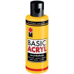 Marabu Acrylfarbe BasicAcryl, schwarz, 80 ml