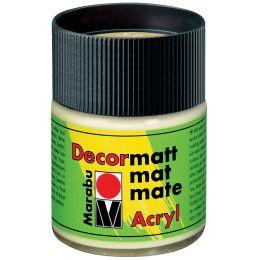 Marabu Acrylfarbe Decormatt, mittelgelb, 50 ml, im Glas