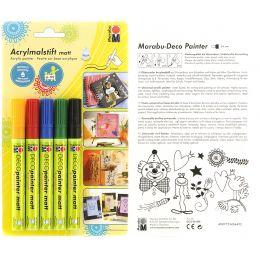 Marabu Acrylmarker Deco Painter matt, 5er Blister