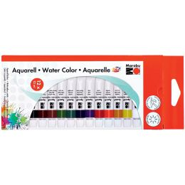 Marabu Aquarellfarbe, 12 ml, 12er-Set