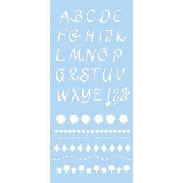 Marabu Schriftschablone Alphabet 2, 150 x 330 mm