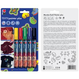 Marabu Textilmarker Textil Painter Plus, 5er Blister