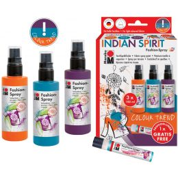 Marabu Textilsprühfarbe Fashion-Spray, Set Indian Spirit