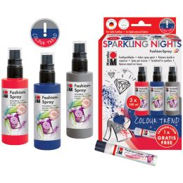 Marabu Textilsprühfarbe Fashion-Spray, Set Sparkling Night