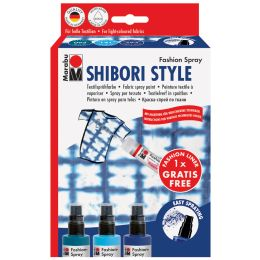 Marabu Textilsprühfarbe Fashion-Spray, Set SHIBORI STYLE