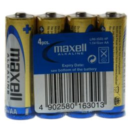 maxell Alkaline Batterie, Mignon AA,  4 Pack Shrink