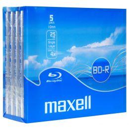 maxell Blu-Ray BD-R 130 Minuten, 25 GB, 4x, Jewel Case