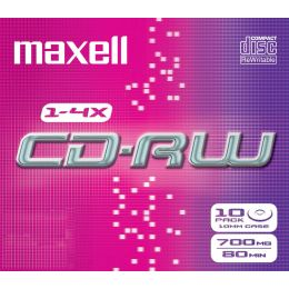 maxell CD-RW, 80 Minuten, 700 MB, 1-4x, Jewel Case