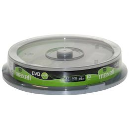 maxell DVD+R 120 Minuten, 4,7 GB, 16x, 10er Spindel,