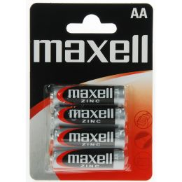 maxell Zink Batterie, Mignon AA, 4er Blister