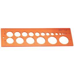 MINERVA Kreisschablone 18, Kreise von 1-30 mm
