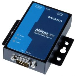 MOXA Serial Device Server, 1 Port, RS-232, Nport-5110