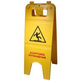 Nölle Warnschild ACHTUNG RUTSCHGEFAHR, gelb