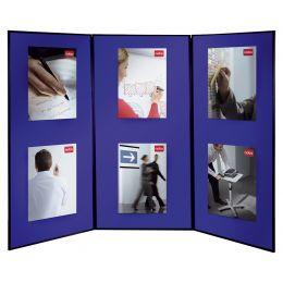 nobo Showboard Extra, mit 3 Präsentationsflächen, blau