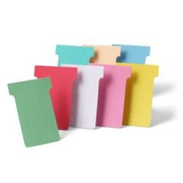 nobo T-Karten, Größe 2 / 60 mm, 170 g/qm, orange