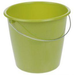 ok Eimer mit Stahlbügel, rund, 10 Liter, farn-green