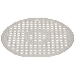 ok Spülbeckenmatte, rund, Durchmesser: 320 mm, weiß