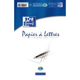 Oxford Briefblock, DIN A5, weiß, liniert