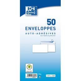 Oxford Briefumschläge Velin, C6, weiß, ohne Fenster, (HK)