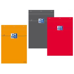 Oxford Notizblock, DIN A6, kariert, 80 Blatt, rot