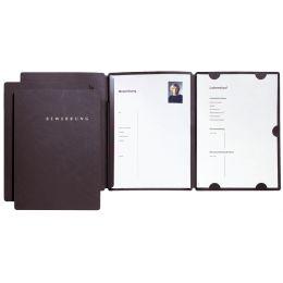 PAGNA Bewerbungsmappe Select, DIN A4, aus Karton, schwarz