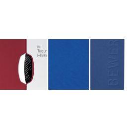 PAGNA Bewerbungsmappe Swing, DIN A4, aus Karton, blau