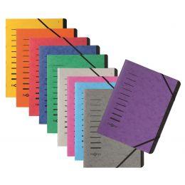 PAGNA Ordnungsmappe Sorting File, 7 Fächer, grün
