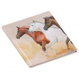 PAGNA Poesie-Album Wildpferde, 80 g/qm, 64 Blatt