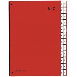 PAGNA Pultordner Color, DIN A4, A - Z, 24 Fächer, rot