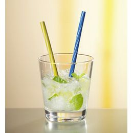 PAPSTAR Cocktail-Trinkhalme, farbig sortiert