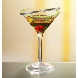 PAPSTAR Cocktail-Trinkhalme Wave, schwarz/weiß