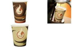 PAPSTAR Deckel für Hartpapier-Kaffeebecher Coffee To Go