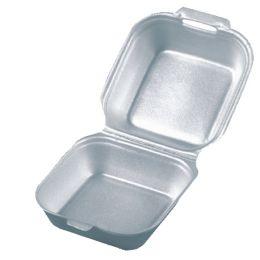 PAPSTAR Hamburger-Box eckig, mit Klappdeckel, 145 mm