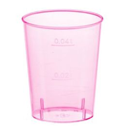 PAPSTAR Kunststoff-Schnapsglas, 4 cl, rosa transparent