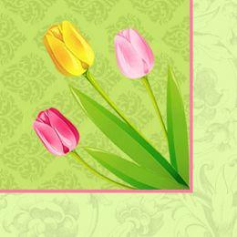 PAPSTAR Oster-Motivservietten Bella Tulipa