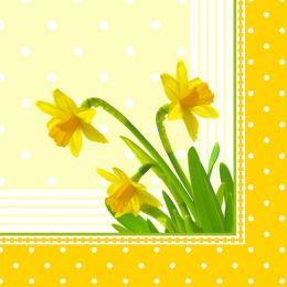 PAPSTAR Oster-Motivservietten Daffodil